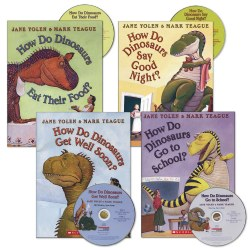 How Do Dinosaurs Book and CD- Set of 4