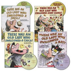 There Was an Old Lady Book and CD Set (Set of 4)