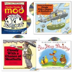 Funny Read-Along Book and CD Set (Set of 4)