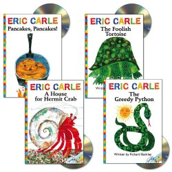 Eric Carle Book and CD Set (Set of 4)