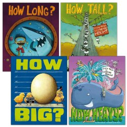 Wacky Math Comparisons Book Set - Set of 4 - Paperback