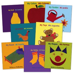 Basic Concepts Bilingual Board Books (Set of 8)
