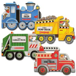 Truck and Train Board Books (Set of 4)