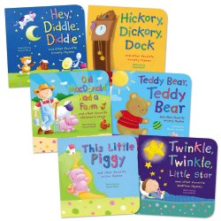 Favorite Nursery Rhymes and Children's Songs Board Books - Set of 6