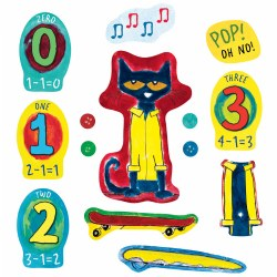 Pete the Cat and His Four Groovy Buttons Felt Set - 14 Piece Set