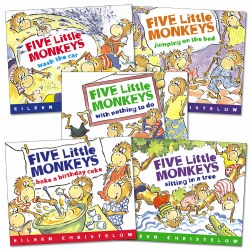 Five Little Monkeys Books - Set of 5