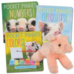 Pocket Piggies Board Book Set with Plush Pig