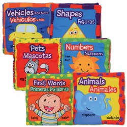 Bilingual Cloth Books - Set of 6