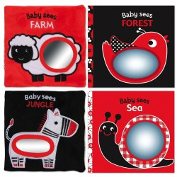 Cloth Baby Bright Books (Set of 4)