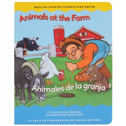 Animals at the Farm - Bilingual Board Book