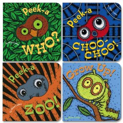 Peek-A-Boo Board Books - Set of 4