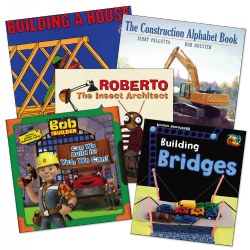 Construction Theme Book Set (Set of 5)