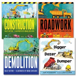 Dig, Dump, and Build Board Book Set (Set of 4)