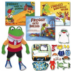 Froggy Books, Felt, & Doll Set