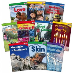 Time for Kids Nonfiction Reader Books Grade K Set 3 - Set of 10