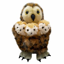 Mother Owl and Three Babies Puppet