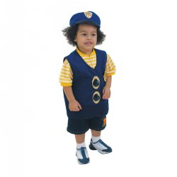 Toddler Pretend Play Police Officer Vest & Hat