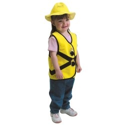 Toddler Construction Worker Vest & Hat