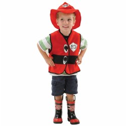 Toddler Firefighter Vest & Hat