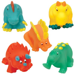 Soft Squeezable Dino Friends - Set of 5
