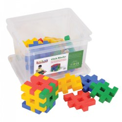 Click Blocks Unique Manipulative Set - 24 Pieces