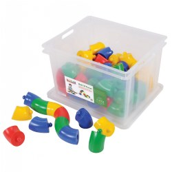 Roll 'N Twist Manipulative Set (60 Pieces)