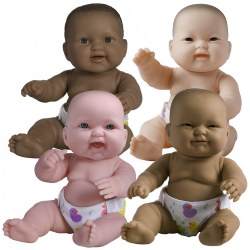 "14"" Lots to Love Babies with Different Skin Tones and Poseable Bodies - Set of 4"