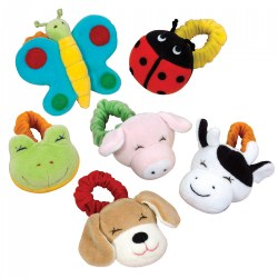 Infant Colorful Wrist Rattles - Set of 6