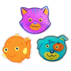 "2 years & up. ""Stop Tears Fast"" with Boo-Boo Buddy Pets. These adorable gel packs are ideal for quick relief of bumps, bruises, scrapes, fevers, headaches, insect bites, and inoculations. Patented gel formula stays cold for up to 30 minutes and remains flexible even when frozen. Submerge in hot tap water (not boiling) and gel packs can be used warm too! These hypoallergenic, nontoxic packs meet Federal Safety Testing Standards. Wash in soap and water when necessary. Caution: Boo-Boo Buddy Pets are for external use only.  Do not mircrowave."