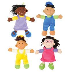 Ethnic Soft Dolls - Set of 4