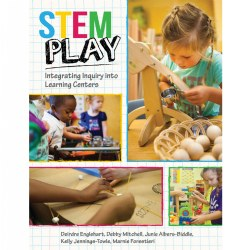 "Most early childhood teachers are using learning centers in the classroom, but do not approach them in ways that fully support a variety of learning opportunities. This book approaches learning centers through the STEM lens, and shares how themes can be integrated into centers to promote creativity and higher-level thinking. ""STEM Play"" provides varied activities for the most common centers: art, blocks, dramatic play, literacy, math, science, music and movement. Full of beautiful, full-color photos that show the activities in real early childhood classrooms, teachers can easily use the book's ideas immediately in their curriculum. Also includes a ""How To"" section for teachers who wish to expand on the STEM focus and use themed activities in their learning centers. Paperback. 174 pages."