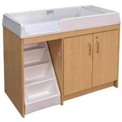 Premium Walk-Up Changing Table - Natural