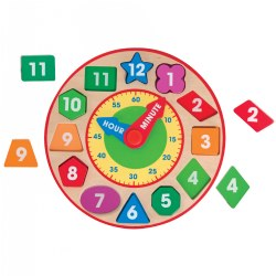Wooden Shape Sorting Clock