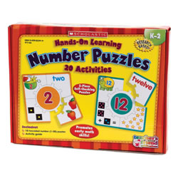 5 years & up. 20 different skill puzzles in each kit teach and reinforce the skills being learned while enhancing the retention of the skill, through the visual and tactile stimulation in the brain of early learners. Each puzzle is self-checking and skill based. Child matches the four picture/math puzzle pieces to the correct center number puzzle piece to complete each puzzle.