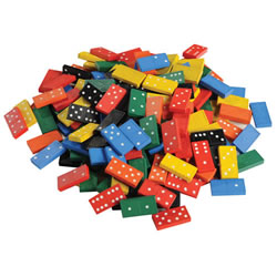 Wooden Dominoes Jar (168 Pieces)