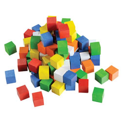 Wooden Cubes Jar (102 Pieces)