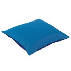 "Cocoon 19 3/4"" Square Cushion - Blue"
