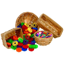 Wooden Baskets - Set of 4
