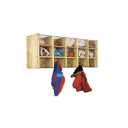 Ash 5-Section 10 Cubbie Wall Locker