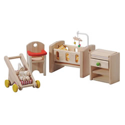 Dollhouse Classic Nursery Furniture Group - 6 Piece Set