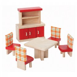 Dollhouse Neo Dining Room Furniture - 6 Piece Set
