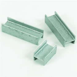 Vinyl, textured Unit-Beams® create a realistic steel-like appearance and allow all Unit Blocks Unit Bricks®, and Unit Rocks® to connect together.
