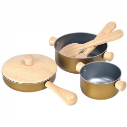 Pretend Play Cooking Pans and Utensils Set - 6 Piece Set