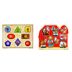 Extra Large Jumbo Knob Puzzles - Set of 2