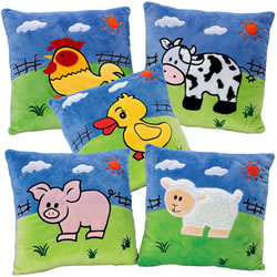 Farm Animal Pillows - Set of 5