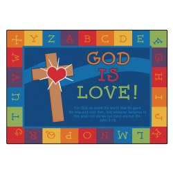 God Is Love Learning KID$ Value PLUS Rug - Rectangle 6' x 9'