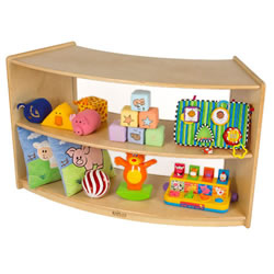Carolina Shape-A-Space™ Curved Storage Unit Acrylic Back