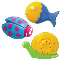 Lady Bug, Fish & Snail Shakers - Set of 6