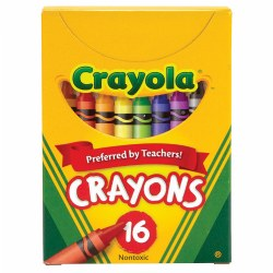 Crayola® 16-Count Crayons - Standard (12 Boxes)