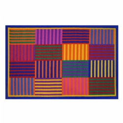 "Rainbow Stripes Rug - 39"" x 58"""